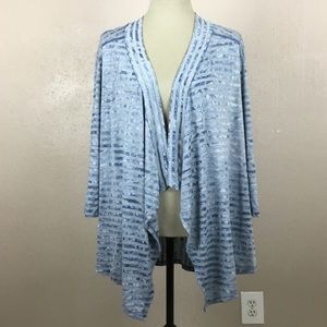 Avenue Womens Open Front Striped Cardigan 14/16
